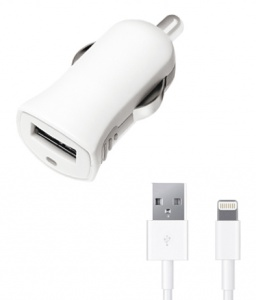 АЗУ USB 1А + дата-кабель 8-pin для Apple, Deppa Ultra MFI (11250)