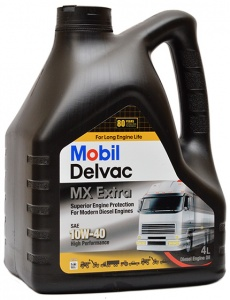 Моторное масло Mobil Delvac MX Extra 10W-40, 4 л